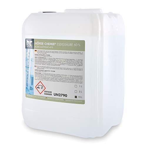 1 x 10 L Essigsäure 60% - frisch abgefüllt im handlichen 10 L Kanister
