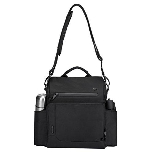 Travelon Anti-Theft Urban N/s Tablet Messenger Bag, Black, One Size