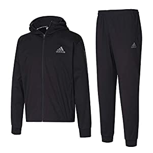 adidas サウナスーツ HYDRO WOMEN 上下セット (ブラック) //アディダス ハイドロ サウナスーツ レディース ランニング ジョギング デトックス (M(日本サイズL))