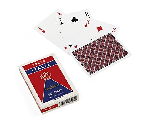 Dal Negro- Mazzo da Poker Retro Rosso, 21041