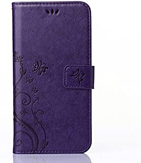 Protect Cellphone Solid Panlong Spend Around Open Wallet Holster (Color : Purple, Compatible Models : iPhone 11)