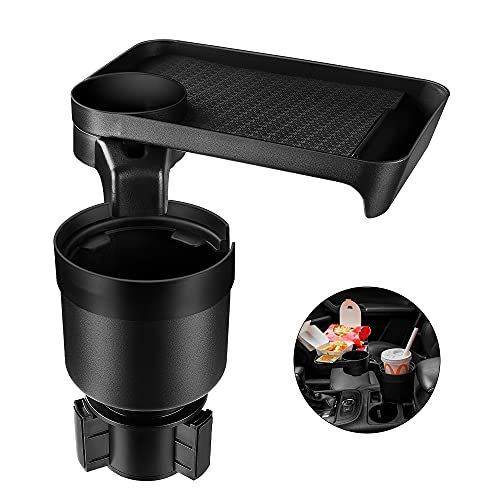 Car Cup Holder Expander & Tray for Compatible with Yeti 20/26/30 oz, Hydro Flasks 32/40 oz, Nalgenes 30/32/38/48 oz, Camelbak 32/40 oz… (1)