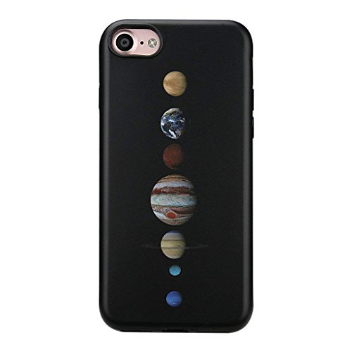 GOLINK iPhone 8 Space Case/iPhone 7 Planets Case, Space Series Slim-Fit Ultra-Thin Anti-Scratch Shock Proof Dust Proof Anti-Finger Print TPU Gel Case for iPhone 7/8 - Planets