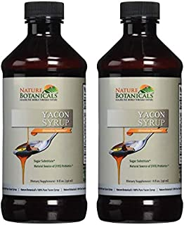 Nature Botanical Farms 100% Pure Yacon Syrup, All Natural Sugar Substitute, Metabolism Booster 8 Oz.(2 Pack)