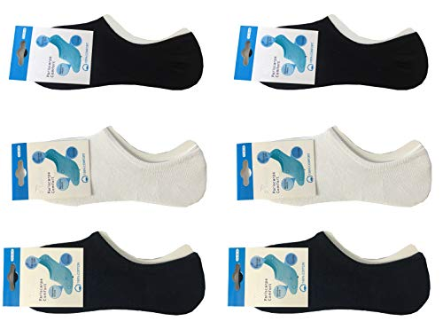 Onzichtbare sokken voor heren en sneakers, katoen, kort, antislip, met siliconen op de hiel, eenheidsmaat 40-45