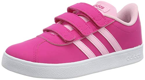 adidas VL Court 2.0 Cmf C, Scarpe da Tennis Unisex Bambini, Rosso (Real Magenta/True Pink/Ftwr White Real Magenta/True Pink/Ftwr White), 28 EU