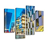 WALL ART SIZE: Measures in 12''x24''x2pcs+12''x32''x2pcs, total 4 pieces framed. READY TO HANG: The gallery canvas print is already perfectly wrapped and stretched with wooden frame on the back. Comes with hooks for easy hanging. WHAT YOU GET IS WHAT...