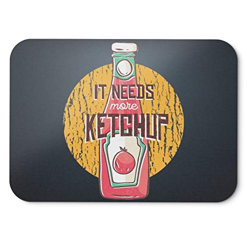 BLAK TEE More Tomatoes and More Ketchup Mouse Pad 18 x 22 cm in 3 Colours Black