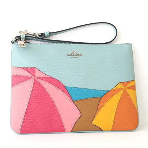 Coach Women's Gallery Pouch (Umbrella Motif - Aqua)