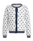 GULLIVER Cárdigan Chaqueta de punto para niña, manga larga, color blanco, con botones, 2-7 años, 98-128 cm Blanco 104 cm