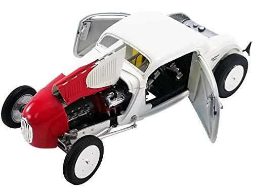 1934 Salt Flat Coupe #1 White and Red So-Cal Speed Shop Team Limited Edition to 702 Pieces Worldwide 1/18 Diecast Model Car by GMP 18902