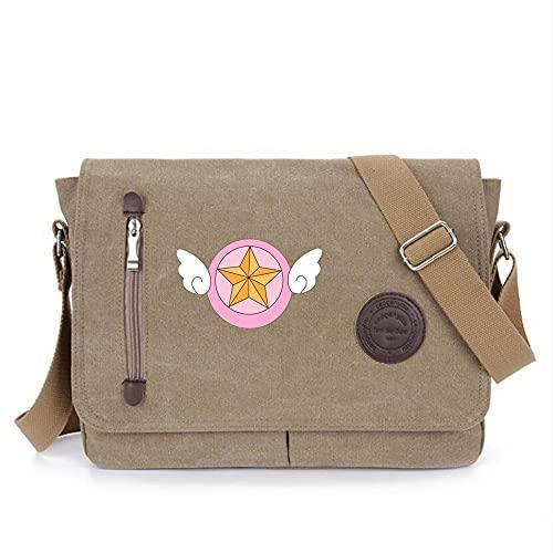 SHU-B Anime Messenger Bag Sac à Main Bandoulière Fourre-Tout Sac étudiant Sac à bandoulière pour Card Captor Sakura Cosplay