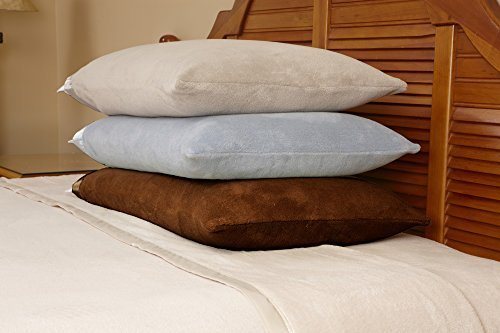 Microfiber Luxury Coral Fleece Bed Sheet Set 6 pieces(California King, Brown) by Eurow & O'Reilly Corp.