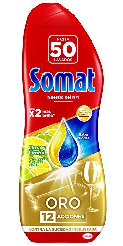 Somat Oro Gel Lavavajillas Limón - 50 Lavados (900 ml)