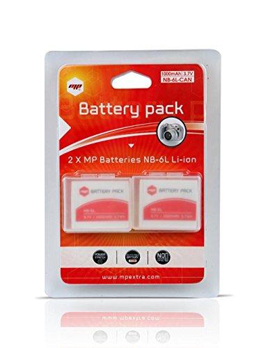 2 x Batería MP EXTRA ® NB6L, NB-6L para cámaras Digitales Canon