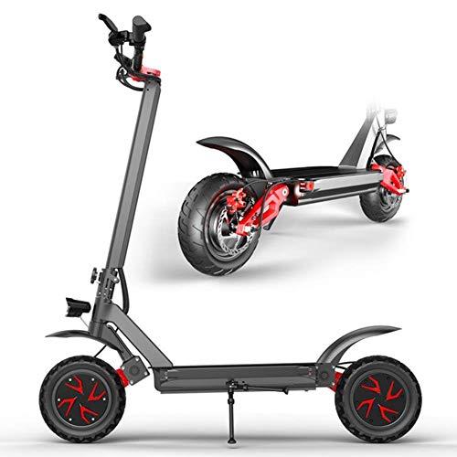 MSG ZY Elektro Scooter/Elektroroller/kickscooter, Zusammenklappbar Luftfahrt Aluminium Körper, Mechanische Bremse und E-ABS Antiblockiersystem,Dual-Drive60V21A/3600W/70km