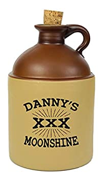 Personalized XXX Moonshine Jug - Half Gallon Growler Bottle   Authentic Engraved Glass Decanter with Finger Ring and Cork Stopper   Thousand Oaks Barrel Co  B269