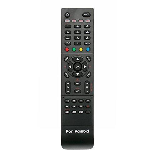 RC-201 Replaced Remote fit for Polaroid TV TLA04641 TDX-03211C 845C45GF1XAPH FLX374 TDX02611C TDX03211C FLM-4034B FLM-4234BH TDA-03211C TDX-01930B 1513-TDXB 1913-TDXB 2611-TLXB 3211-TLXB 2611TLXB