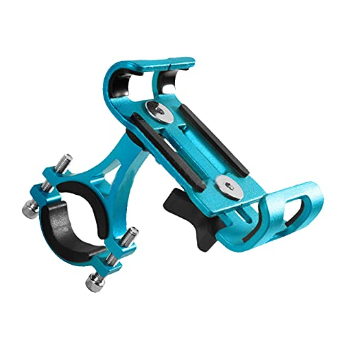 freneci Soporte de teléfono para Bicicleta de Carretera MTB Soporte para teléfono móvil Ajustable de 360 Grados para teléfonos móviles de 3,5 ''-6,5'' - Azul