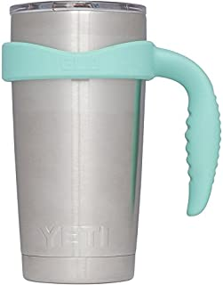 Grab Life Outdoors 20oz Tumbler Handle - Perfectly Fits 20 Oz YETI Rambler, Ozark Trail & Many More - Handle Only (Seafoam)