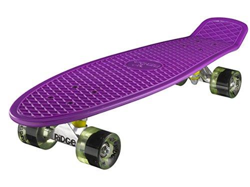 Ridge Skateboard Big Brother Nickel 69 cm Mini Cruiser, lila/klar grün