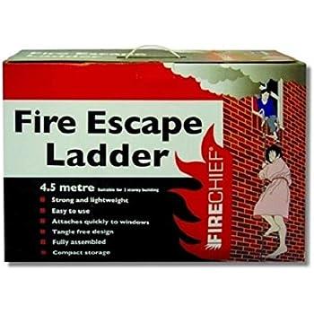 Firechief Fel1 4,5 m escalera de emergencia escalera: Amazon.es: Industria, empresas y ciencia