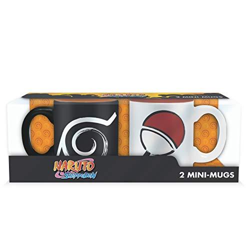 ABYstyle One Piece Naruto 2 Mini-Tassen mit Box Konoha & Uchiha für Erwachsene, ABYMUG265