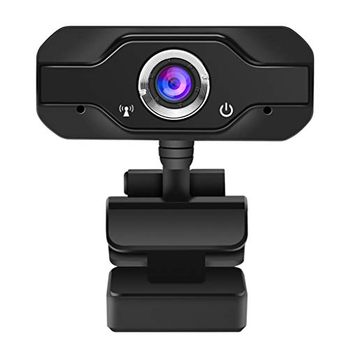 Sayla Webcam, Webcam 720p, PC Webcam mit Mikrofon Full HD Webcam USB Webcam Streaming Webcam für Streaming, Widescreen Videoanruf und Aufnahmeunterstützung für Konferenze (Schwarz)