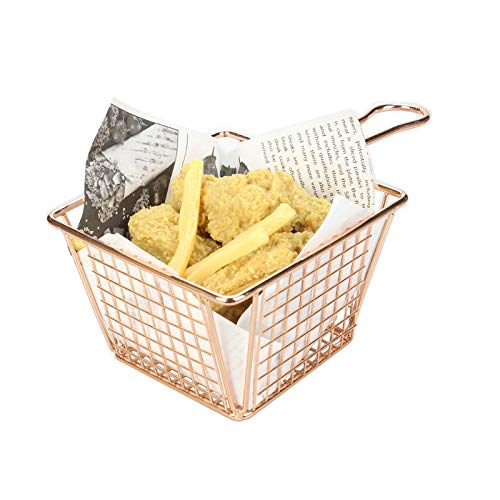 CGOLDENWALL - Cesta para patatas fritas, patatas fritas, patatas fritas, patatas fritas, patatas fritas, patatas fritas, patatas fritas, patatas fritas, aperitivos, cestas cuadradas 100*100*80 8pcs