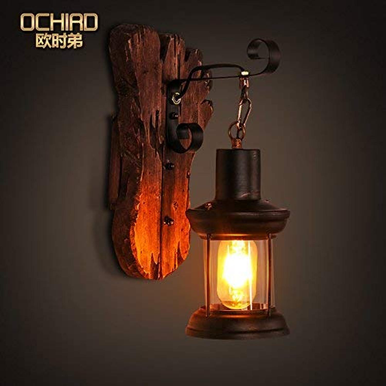 Light Vintage Solide Holz Nachttischlampe Schlafzimmer Wohnzimmer Loft Ideen über Kaffee Restaurant Bar American Wandleuchte
