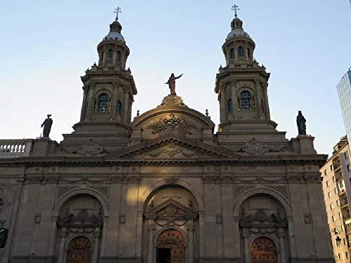 No Pintura De Bricolaje Iglesia Plaza De Armas En Santiago De Chile Obra De Arte De Decoración De Regalo