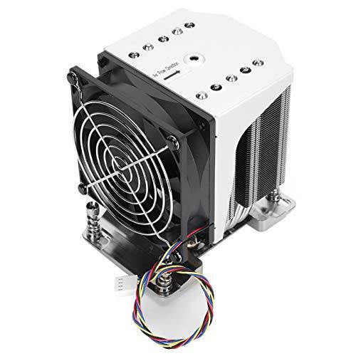 Ventilador de refrigeración de CPU, radiador de 3800 RPM de bajo Ruido con Gran Volumen de Aire Conector de Ventilador de 4 Pines 12V para Placa Base H11 Simple/Doble