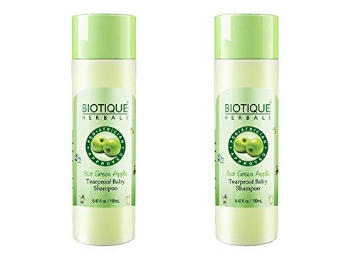 Biotique Bio Green Apple Tearproof Baby Shampoo, 190ml - 2 pk(Ship from India)