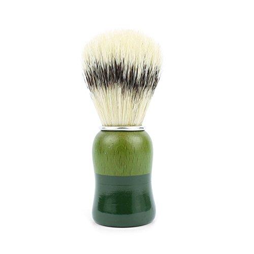 Brocha de viaje Antiga Barbearia de Bairro de Cerda con mango de madera verde