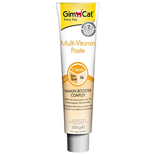 GimCat Multi-Vitamin Paste - Gesunder Katzensnack aktiviert Abwehrkräfte und stärkt das Immunsystem - 1 Tube