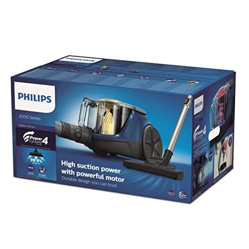 Philips Aspirapolvere Senza Sacco XB2125/09, Serie 2000, con Tecnologia Power Cyclone 4, Blu, 850 W
