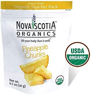 Organic Freeze Dried Pineapple Chunks Snacker Pack (6 x 20g); Certified Organic; Vegan