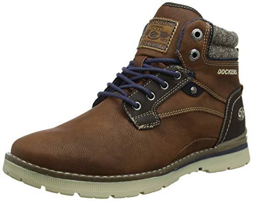 Dockers by Gerli Herren 43JU002 Hohe Sneaker, Braun (Cognac 470), 46 EU