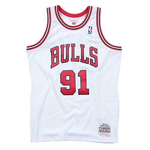 Mitchell & Ness - Chicago Bulls Dennis Rodman - Trikot Swingman Jersey weiss - NBA Basketball (XL)