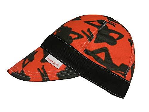 Red/Black Comeaux Caps Reversible Welding Cap Silhouette 7 5/8