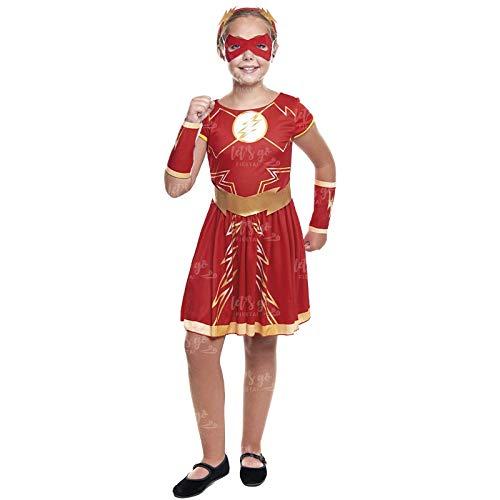 Disfraz Heroína Fugaz Niña Disfraz Superhéroe Niña (Talla 5-6 años) (+ Tallas)