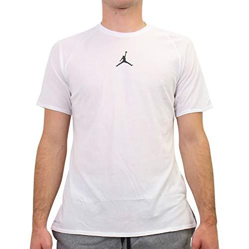 Nike Herren Jordan 23 Alpha Kurzarm-Trainingsoberteil Weiß XL