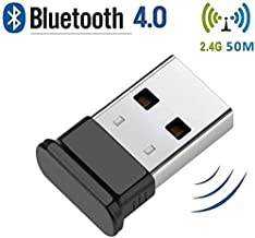 HANPURE Adaptador USB Bluetooth 4.0 - Bluetooth 4.0 Dongle Compatible con Auriculares Bluetooth Mouse Teclado Impresoras PC para Windows 8 y 10 (Conecta y Reproduce) Win7 / Vista/XP (Negro)