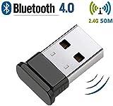 HANPURE Adattatore USB Bluetooth, Trasmettitore Bluetooth 4.0, Chiave USB Bluetooth per PC...