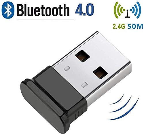 Bluetooth 4.0 USB-dongle, Bluetooth stick, ondersteunt alleen Bluetooth hoofdtelefoon, muis, toetsenbord, printers, PC, Bluetooth adapter voor PC Windows 10 (Plug & Play), Win/8.1/8/7/Vista/XP