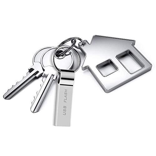 Memoria USB 1TB Pendrive USB 3.0 Impermeable USB Pen Drive 1000GB Metal Memory Stick con Llavero para Almacenamiento de Datos Externo/Windows/PC (1000GB)