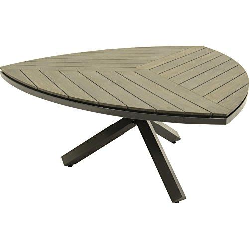 Lesli Living Tisch Tafel Esstisch Gartentisch Dock dreieckig antharzit/grau 170x170x75 cm hochwertig