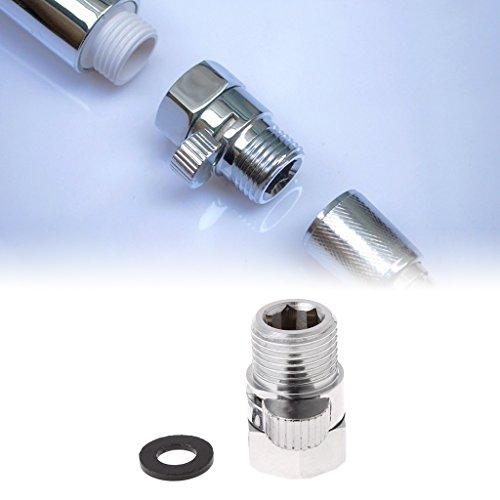 Cuigu Absperrventil aus VollMessing, G1 / 2 Zoll, schnelle Ablaufkontrolle, für Wasserspar-Handbrause