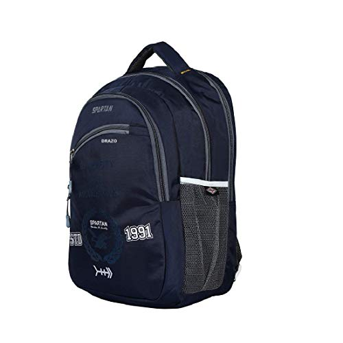 Drazo 35 Liters Navy Good Quality Backpack with Laptop Compartment.