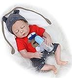 MAIHAO 20 Pulgadas 50 cm Hecho a Mano Cuerpo Completo de Silicona Bebes Reborn Baby Dolls Niños Niños pequeños Muñeca Reborn Bebé Niño recién Nacidos durmientes Juguetes magnéticos